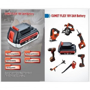 Batterry CUMET FLEX  18V 2AH  serial Black&Decker