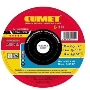 105 x 1.6 x 16 Metal Cuttiing  Wheel